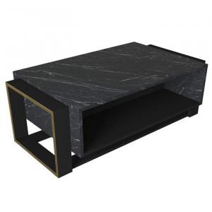 Masa de cafea Traft, negru/maro/gri, 41 x 60 x 107 cm