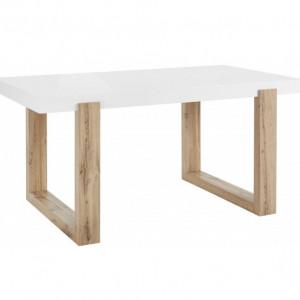 Masa de living Solid, MDF/lemn , alb/maro, 160x76x90 cm