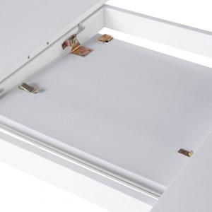 Masa extensibila Sanford, alba, 75 x 90 x 150/195 cm