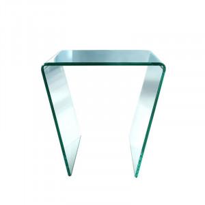 Masă laterală din sticlă Donita, 45cm H x 45cm W x 50cm D
