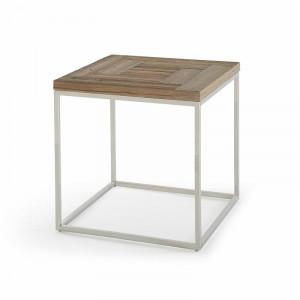 Masa laterala Liliane, lemn masiv/metal, 60,96 x 60,96 x 60,96 cm