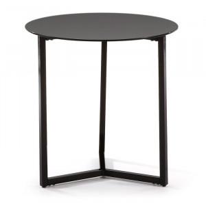 Masa laterală Quentin, negru, 50 x 50 x 50 cm