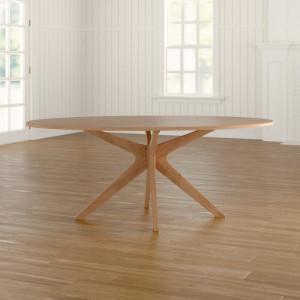 Masa Warburton, lemn masiv, maro, 190 x 110 x 75 cm