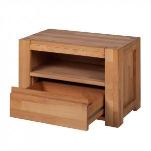 Noptiera Paroswood lemn masiv de fag, maro, 60,8 x 42 x 35 cm