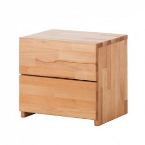 Noptiera Wood II, lemn masiv de fag
