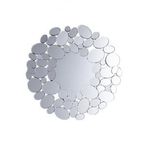 Oglinda de perete LIMOGES, MDF, argintie, 70 x 70 x 2 cm