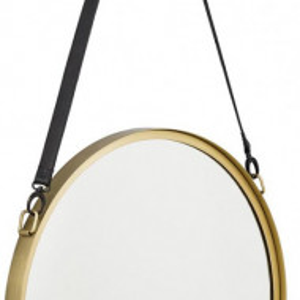 Oglinda Liz cu curea din piele, 60 x 60 cm