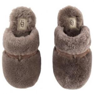Papuci de casa UGG piele, maro, marimea 36