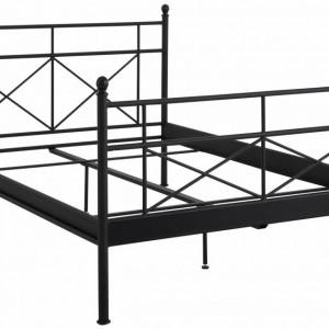 Pat metalic Thora metal, negru, 180x 200 cm