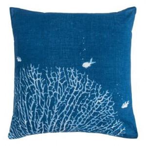 Perna decorativa Coralli 3, albastru, 40x40 cm
