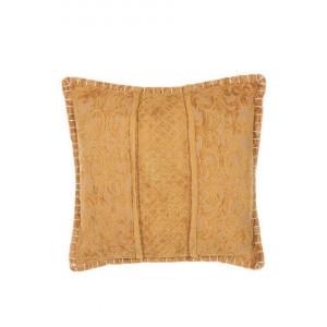Perna decorativa KAVALAM, galben, 45 x 45 x 10 cm