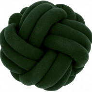 Pernă decorativă Knot, verde, 30 x 15 cm