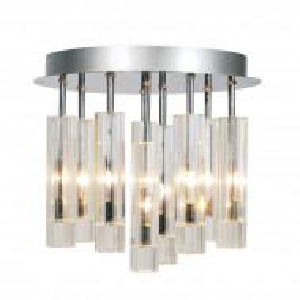 Plafoniera cu 9 lumini din sticla, 30 x 32 cm