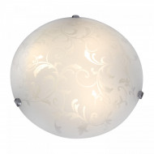 Plafoniera Nismes sticla/metal, alb, 1 bec, diametru 30 cm, 230 V