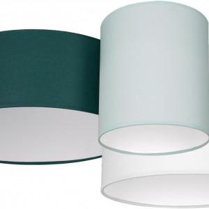 Plafoniera Stan, verde/alb, 70 x 27 x 70 cm