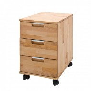 Rollcontainer Lumberjack din lemn masiv de fag, maro, 38,5 x 59 x 46,5 cm