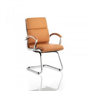 Scaun de birou Cantilever din piele, 93cm H x 60cm W x 63cm D