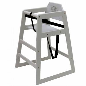 Scaun înalt pentru copii Oypla din lemn, alb