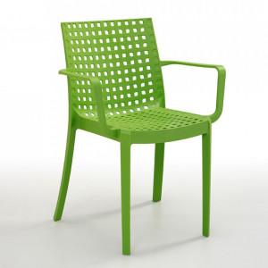 Scaun Sophie polipropilenă, verde deschis, 82 x 55 x 58 cm