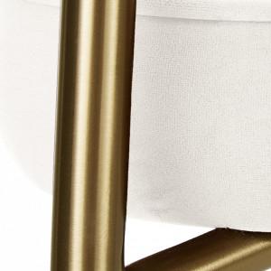 Scaun tapitat Viggo, catifea bej/auriu