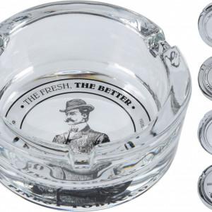 Scrumiera Karll sticla cu model, 8,3 x 3,5 mm