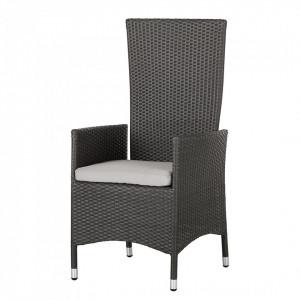 Set 2 fotolii Paradise Lounge aluminiu/ratan/textile, gri, 61 x 111 x 59 cm