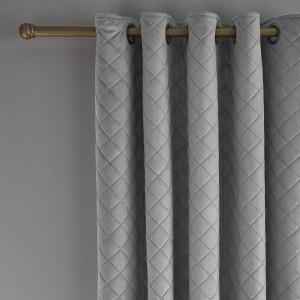 Set de 2 draperii Luxe, argintii, 117 x 183 cm