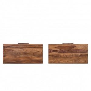 Set de 2 extensii de masa Ohio, lemn masiv de sheesham, maro, 90 x 45 x 5 cm