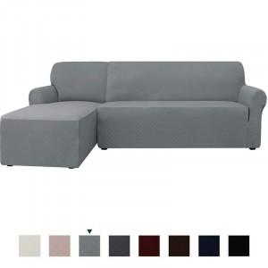 Set de 2 huse pentru canapea, gri, 290 x 100 cm