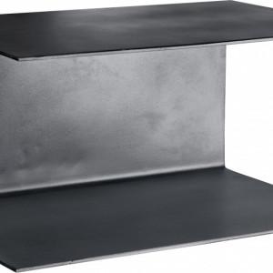 Set de 2 rafturi Phantom din metal, negru