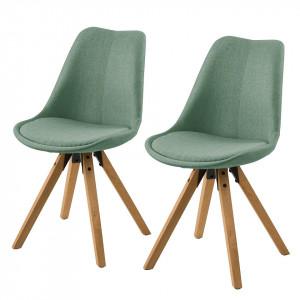Set de 2 scaune Aledas II cu picioare din lemn masiv