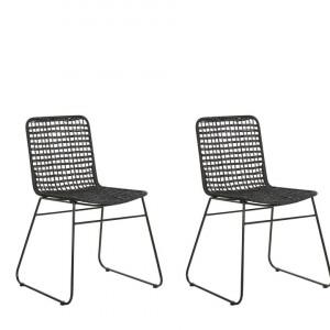 Set de 2 scaune Berito, negru, 56 x 51 x 85 cm