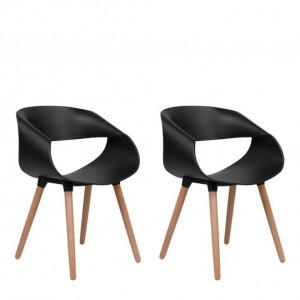 Set de 2 scaune Charlotte, negru, 55 x78cm