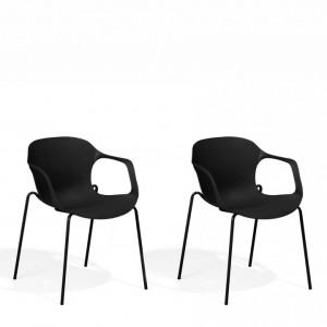 Set de 2 scaune Elbert, negru, 56 x 56 x 75 cm