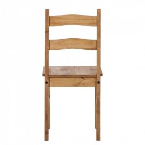 Set de 2 scaune Finca Rustica, lemn masiv de pin