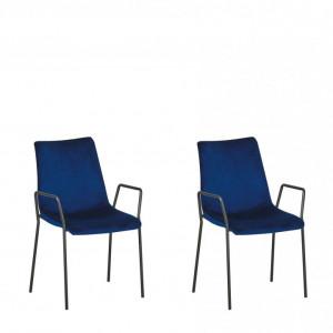 Set de 2 scaune JEFFERSON, albastre, 57 x 60 x 87 cm