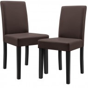 Set de 2 scaune Keyla, maro, 89 x 54 x 43 cm