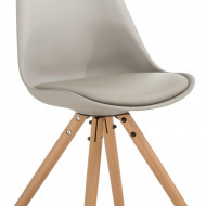 Set de 2 scaune Max, bej/gri, 46 x 84 x 54 cm