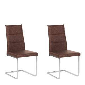 Set de 2 scaune Rockford, maro inchis, 44 x 59 x 97 cm