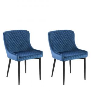 Set de 2 scaune Solano, albastru, 51 x 52 x 82 cm