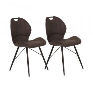 Set de 2 scaune tapitate Brentley, antracit, 86 x 50 x 56 cm