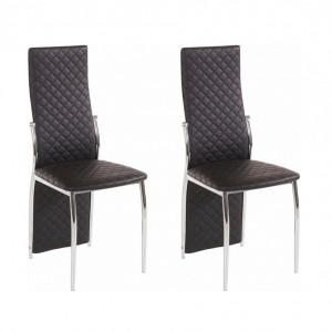 Set de 2 scaune Wilson - negru/argintiu