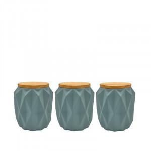 Set de 3 recipiente Florence ceramica