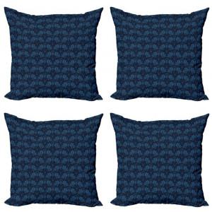 Set de 4 huse pentru perna Hunsinger, albastru inchis, 45,72 x 45,72 x 1 cm