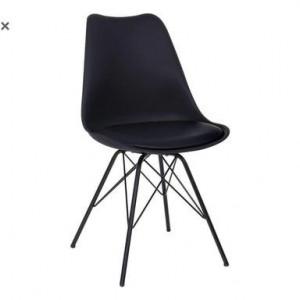 Set de 4 scaune Margie negre