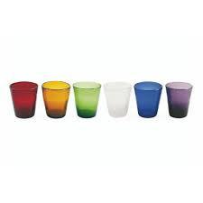 Set de 6 pahare de apa Cancun, multicolor