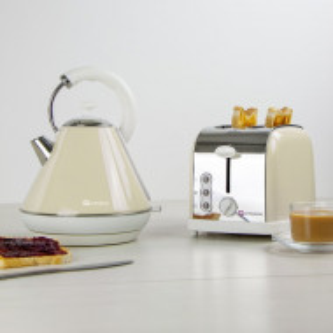 Set de ceainic si prajitor de paine, maro, 29,5 x 27,6 x 22,5 cm