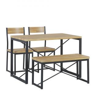 Set masă cu 4 locuri FLIXTON