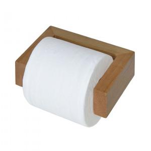 Suport pentru hartie Slimline din lemn stejar, maro, 16 x 5 x 11 cm
