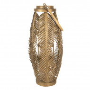 Suport pentru lumanari Clayre & Eef, auriu, 75 x 25 x 25 cm